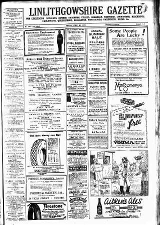 cover page of Linlithgowshire Gazette published on July 20, 1928