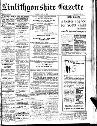 cover page of Linlithgowshire Gazette published on May 18, 1945