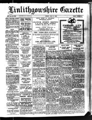 cover page of Linlithgowshire Gazette published on July 16, 1948