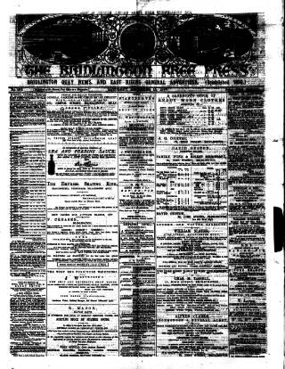 cover page of Bridlington Free Press published on December 15, 1877