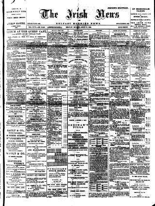 cover page of Irish News and Belfast Morning News published on June 18, 1900
