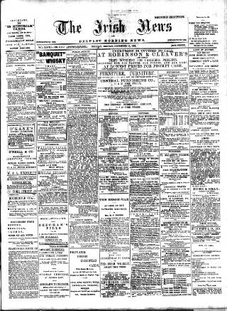 cover page of Irish News and Belfast Morning News published on December 15, 1902