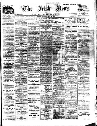 cover page of Irish News and Belfast Morning News published on June 28, 1904