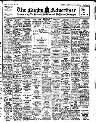 cover page of Rugby Advertiser published on June 1, 1956