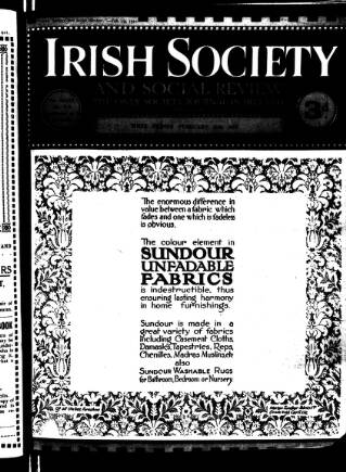 cover page of Irish Society (Dublin) published on February 19, 1921