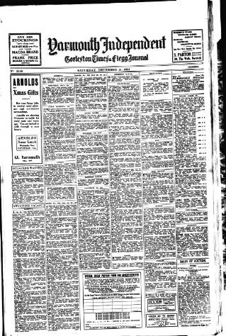 cover page of Yarmouth Independent published on December 15, 1934