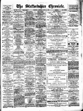 cover page of Staffordshire Chronicle published on April 4, 1896
