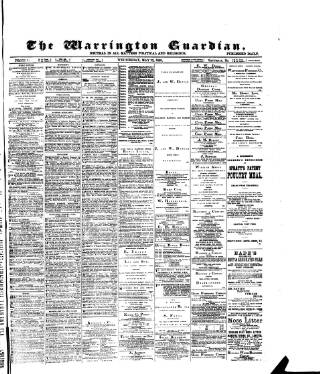 cover page of Warrington Guardian published on May 22, 1889