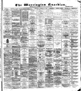 cover page of Warrington Guardian published on December 14, 1889