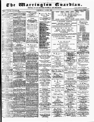 cover page of Warrington Guardian published on June 3, 1903