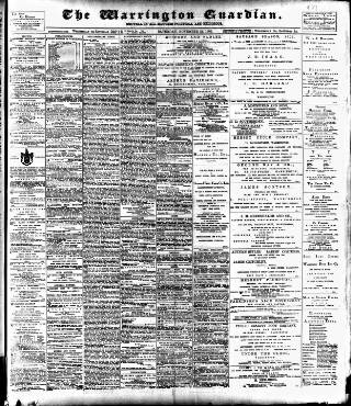 cover page of Warrington Guardian published on November 21, 1903