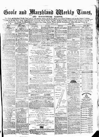 cover page of Goole Times published on March 19, 1870