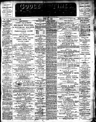 cover page of Goole Times published on April 3, 1896