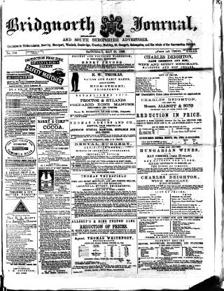 cover page of Bridgnorth Journal and South Shropshire Advertiser. published on May 29, 1869