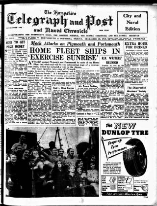 cover page of Hampshire Telegraph published on December 10, 1948