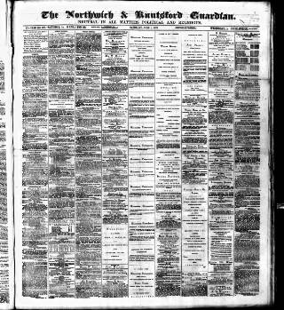 cover page of Northwich Guardian published on June 1, 1878