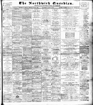 cover page of Northwich Guardian published on April 22, 1905