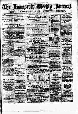 cover page of Lowestoft Journal published on March 24, 1877