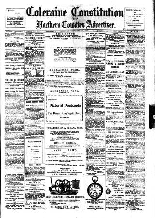 cover page of Northern Constitution published on September 19, 1903