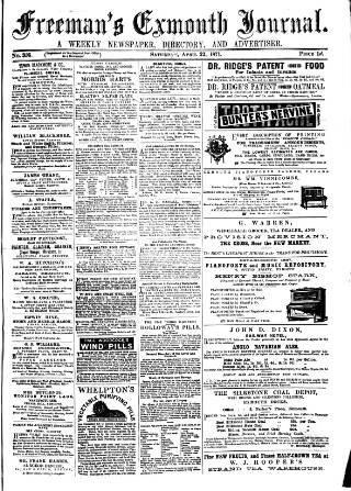 cover page of Exmouth Journal published on April 22, 1871