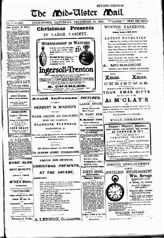 cover page of Mid-Ulster Mail published on December 10, 1910