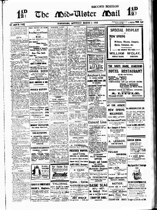 cover page of Mid-Ulster Mail published on March 1, 1924