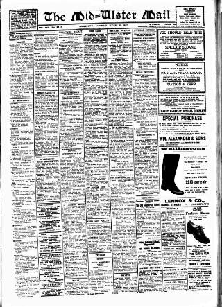 cover page of Mid-Ulster Mail published on August 23, 1947