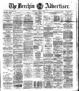 cover page of Brechin Advertiser published on December 14, 1880