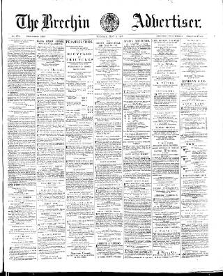 cover page of Brechin Advertiser published on May 5, 1885