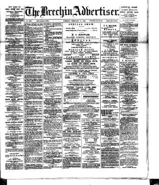 cover page of Brechin Advertiser published on February 17, 1891