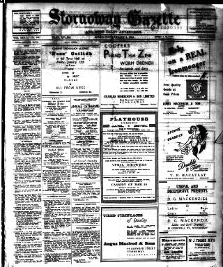 cover page of Stornoway Gazette and West Coast Advertiser published on January 6, 1950