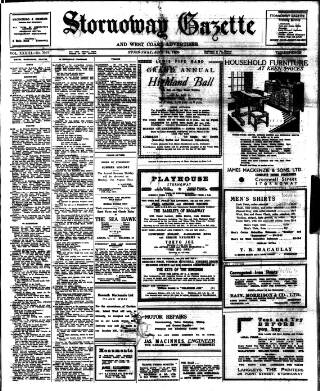 cover page of Stornoway Gazette and West Coast Advertiser published on July 14, 1950