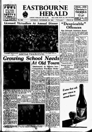 cover page of Eastbourne Herald published on November 20, 1948