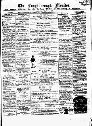 cover page of Loughborough Monitor published on May 5, 1859