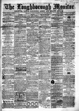 cover page of Loughborough Monitor published on September 22, 1864