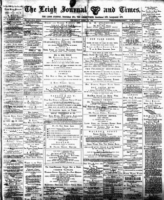 cover page of Leigh Journal and Times published on April 18, 1889