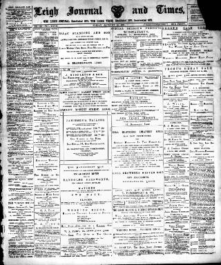 cover page of Leigh Journal and Times published on January 14, 1898