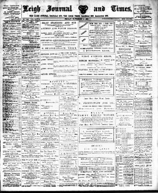 cover page of Leigh Journal and Times published on November 4, 1898