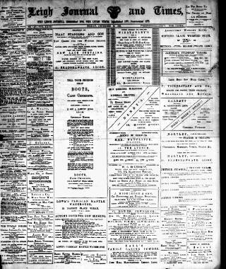 cover page of Leigh Journal and Times published on December 30, 1898