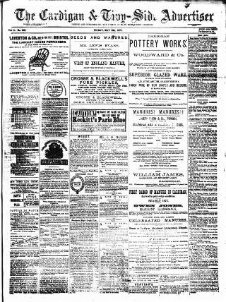 cover page of Cardigan & Tivy-side Advertiser published on May 11, 1877