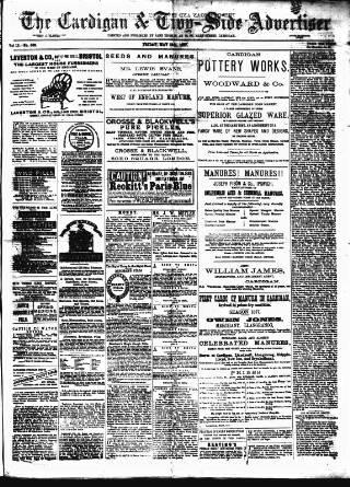cover page of Cardigan & Tivy-side Advertiser published on May 18, 1877