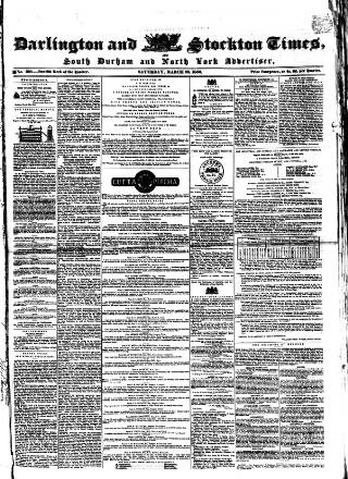 cover page of Darlington & Stockton Times, Ripon & Richmond Chronicle published on March 23, 1850