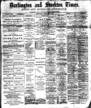 cover page of Darlington & Stockton Times, Ripon & Richmond Chronicle published on October 17, 1896