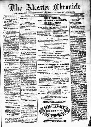 cover page of Alcester Chronicle published on August 19, 1871