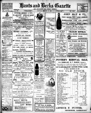 cover page of Hants and Berks Gazette and Middlesex and Surrey Journal published on February 19, 1910