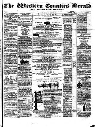 cover page of Bridgwater Mercury published on April 18, 1860