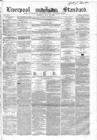 cover page of Liverpool Standard and General Commercial Advertiser published on May 17, 1853