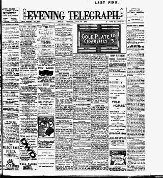 cover page of Dublin Evening Telegraph published on April 20, 1909