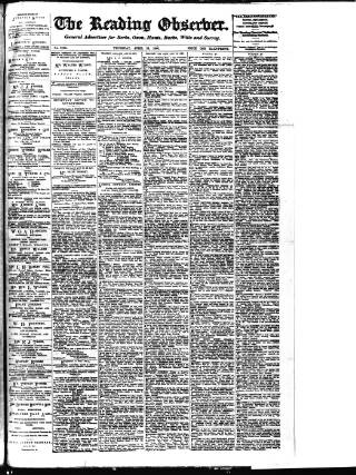 cover page of Reading Observer published on April 19, 1900