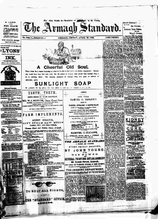 cover page of Armagh Standard published on April 19, 1895